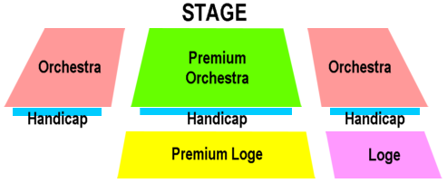 [Main Stage seating diagram]